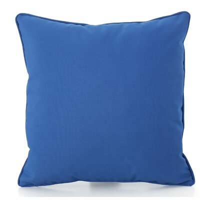 Thorson Outdoor Throw Pillow Color: Blue
