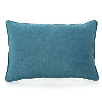 Thorson Modern Outdoor Lumbar Pillow Color: Teal