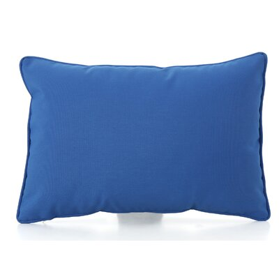 Thorson Modern Outdoor Lumbar Pillow Color: Blue