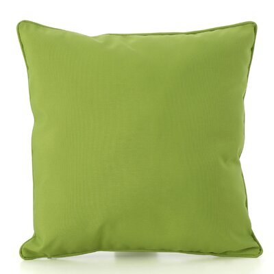 Thorson Outdoor Throw Pillow Color: Green