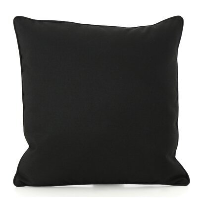 Northfield Outdoor Throw Pillow Color: Black