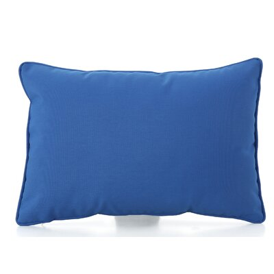 Northfield Outdoor Lumbar Pillow Color: Blue