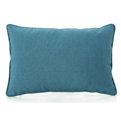 Thorson Outdoor Lumbar Pillow Color: Teal