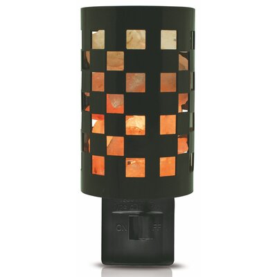 Himalayan Checker Salt Crystal Night Light