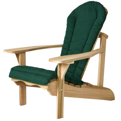 Western Red Cedar Outdoor Adirondack Chair Cushion Color: Green