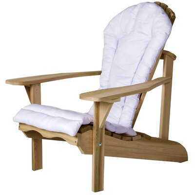 Western Red Cedar Outdoor Adirondack Chair Cushion Color: White