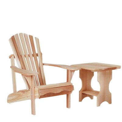 Western Red Cedar Adult Adirondack Seating Group