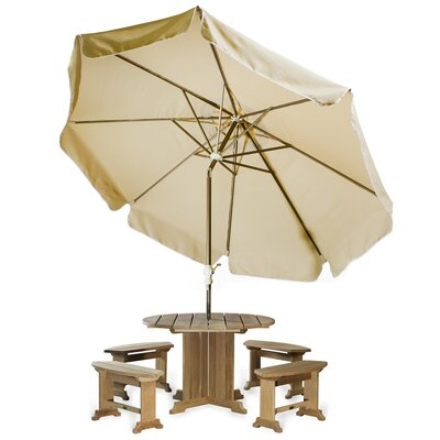 10' Java Teak Drape Umbrella Fabric: Tan