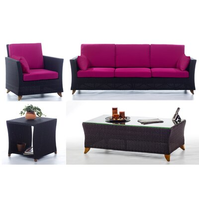 Deep Seating Group Cushions Fabric Fuchsia picture