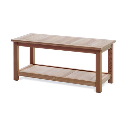 All Things Cedar Wood Deluxe Sauna Bench