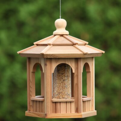 Hexagon Decorative Tube Bird Feeder
