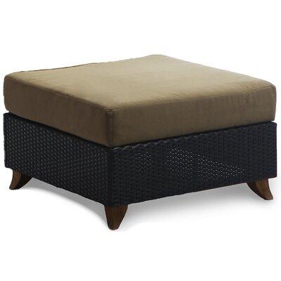 Scottsmoor Rattan Ottoman with Cushion Fabric: Khaki