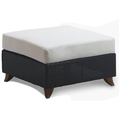Scottsmoor Rattan Ottoman with Cushion Fabric: White