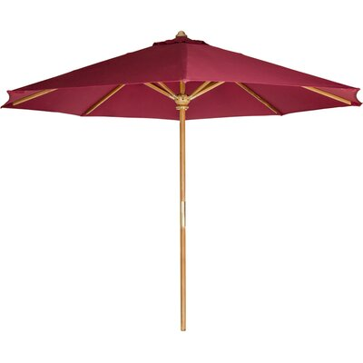 Masonville 10 ft Teak Market Umbrella
