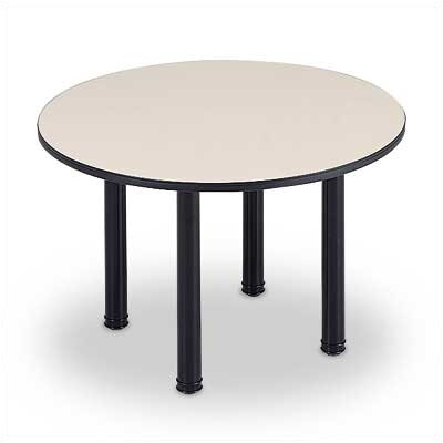 Abco 5' Round Conference Table - Top Color: Fusion Maple, Edge Color: Dove Grey, Base Color: Slate Grey at Sears.com