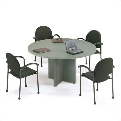 "Abco Bull Nose 60"" Round Gathering Table - Top Finish: Olive Legacy, Edge Color: Black, Base Color: Bronze Legacy at Sears.com"