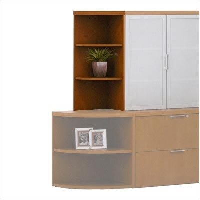 """Abco Unity Executive Series 38"""" Bookcase - Top Color: Natural Pear, Edge Type: Fluted, Side Color: Fusion Maple at Sears.com"""