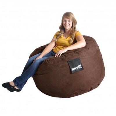 Bean Bag Sofa Upholstery: Chocolate Brown, Size: Medium