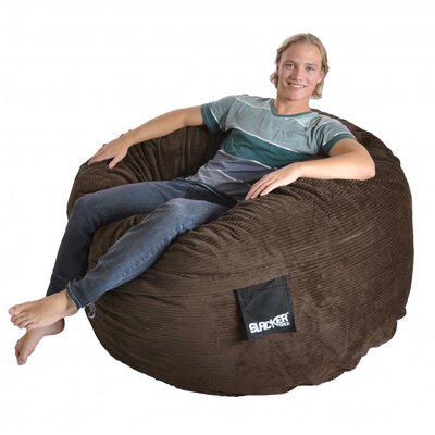 Bean Bag Sofa Upholstery: Chocolate Brown, Size: Large