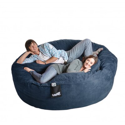Bean Bag Sofa Size: Extra Extra Large, Upholstery: Navy Blue