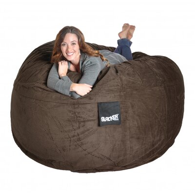 Bean Bag Sofa Size: Extra Large, Upholstery: Chocolate Brown
