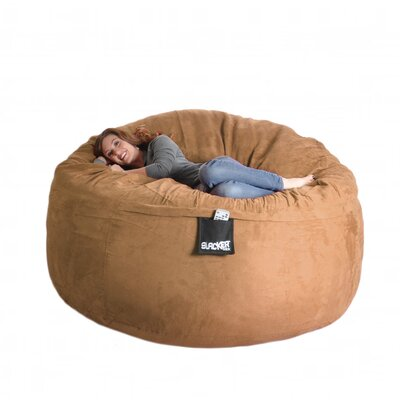 Bean Bag Sofa Size: Extra Large, Upholstery: Earth Brown
