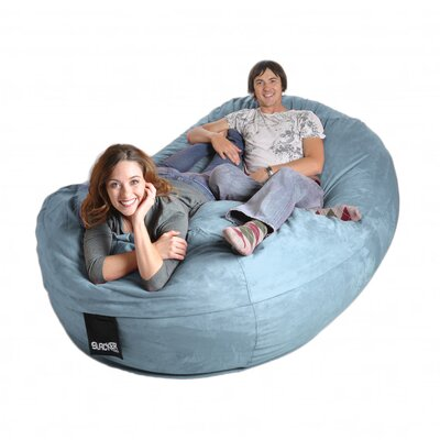 Bean Bag Sofa Size: Triple Extra Large, Upholstery: Baby Blue