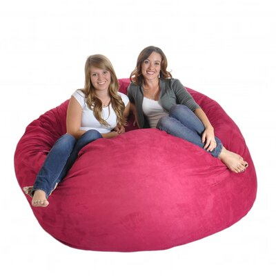 Bean Bag Sofa Size: Extra Large, Upholstery: Hot Pink