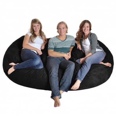 Bean Bag Sofa Upholstery: Black, Size: Triple Extra Large