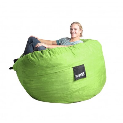 Bean Bag Sofa Size: Large, Upholstery: Lime Green