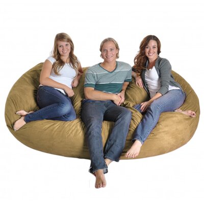 Bean Bag Sofa Size: Triple Extra Large, Upholstery: Camel Tan
