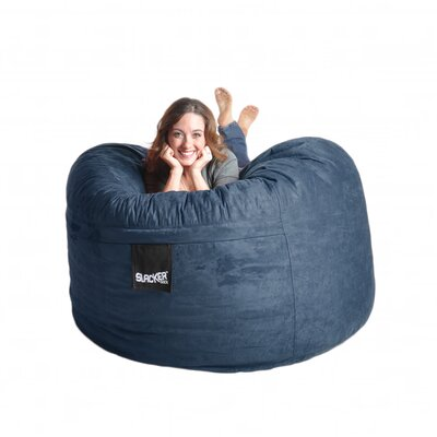Bean Bag Sofa Size: Large, Upholstery: Navy Blue