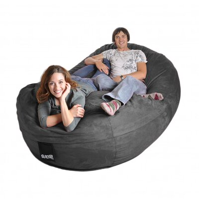 Bean Bag Sofa Upholstery: Charcoal Grey, Size: Triple Extra Large