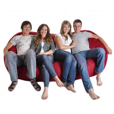 Bean Bag Sofa Upholstery: Cinnabar Red, Size: Triple Extra Large