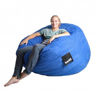 Bean Bag Sofa Size: Large, Upholstery: Royal Blue