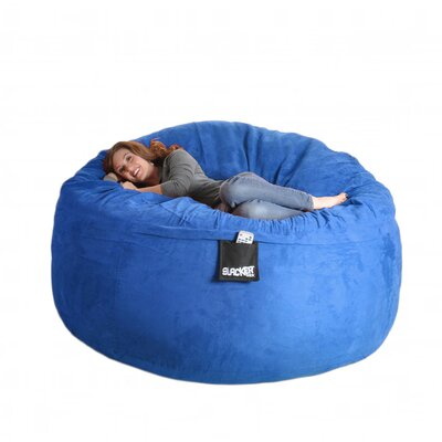 Bean Bag Sofa Size: Extra Large, Upholstery: Royal Blue