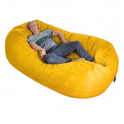Bean Bag Sofa Upholstery: Lemon Yellow, Size: Triple Extra Large