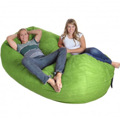 Bean Bag Sofa Upholstery: Lime Green, Size: Triple Extra Large