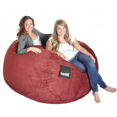 Bean Bag Sofa Size: Extra Large, Upholstery: Burgundy