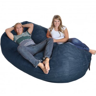 Bean Bag Sofa Upholstery: Navy, Size: Triple Extra Large