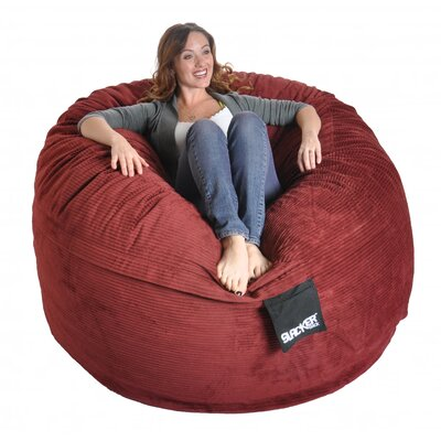 Bean Bag Sofa Upholstery: Burgundy, Size: Large