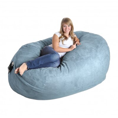 Bean Bag Sofa Size: Extra Large, Upholstery: Baby Blue
