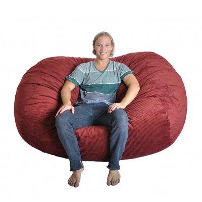 Bean Bag Sofa Upholstery: Dark Red Burgundy
