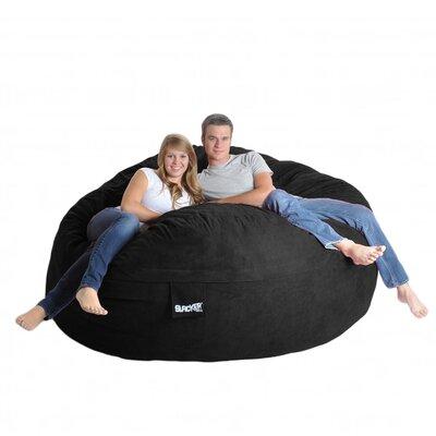 Bean Bag Sofa Upholstery: Black, Size: Extra Extra Large