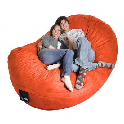 Bean Bag Sofa Upholstery: Pumpkin Orange, Size: Triple Extra Large