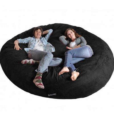 Bean Bag Sofa Upholstery: Black, Size: Triple Extra Large