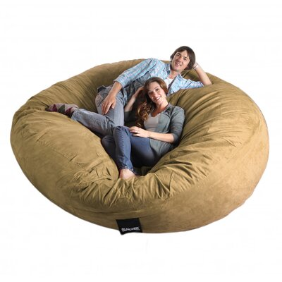 Bean Bag Sofa Upholstery: Camel Brown, Size: Triple Extra Large