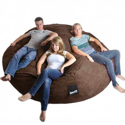 Bean Bag Sofa Upholstery: Chocolate Brown, Size: Triple Extra Large
