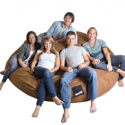 Bean Bag Sofa Upholstery: Earth Brown, Size: Triple Extra Large