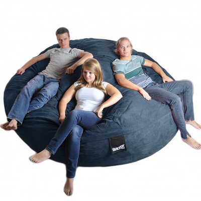 Bean Bag Sofa Upholstery: Navy Blue, Size: Triple Extra Large